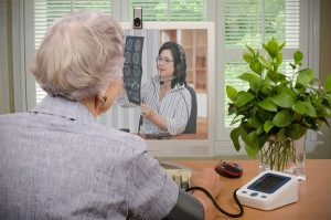 patient and doctor ina telehealth visit