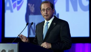 Alex Azar delivers a speech on VBC